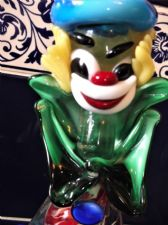 VINTAGE MURANO BOLD COLOUR OUTFIT CLOWN WITH BALL + ORIGINAL LABEL 9.5""